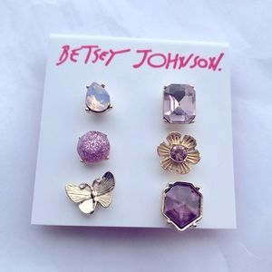 BETSEY JOHNSON SPRING IN THE AIR MIXED STUD SET